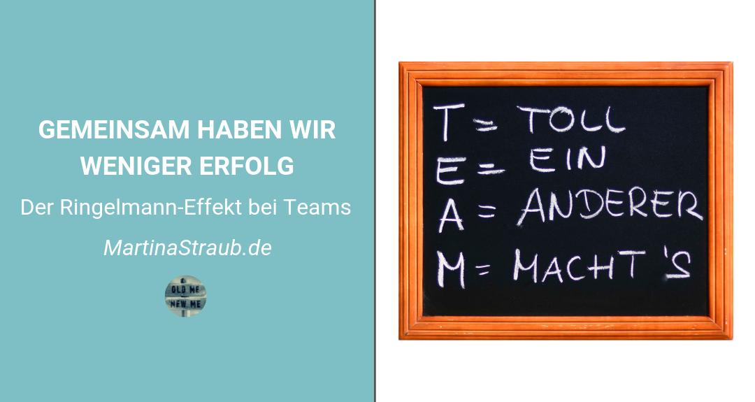 Gemeinsam haben wir weniger Erfolg – Der Ringelmann-Effekt bei Teams